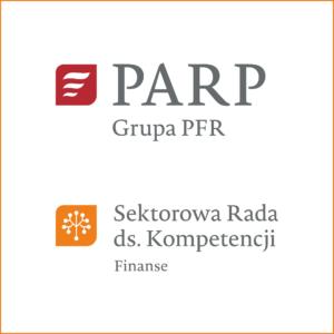 Logo PARP Grupa PFR oraz logo SRK Finanse